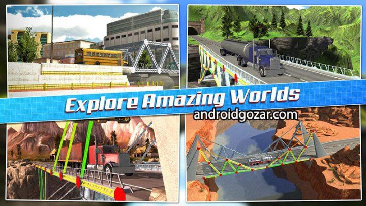 Bridge Construction Simulator 1.2.7 دانلود بازی شبیه سازی پل سازی + مود