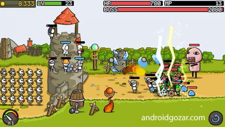 Grow Castle 1.20.8 دانلود بازی دفاع از قلعه اندروید + مود