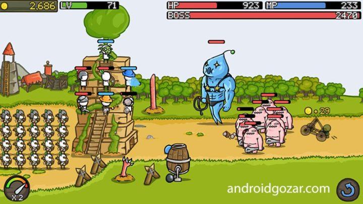 Grow Castle 1.25.2 دانلود بازی دفاع از قلعه اندروید + مود