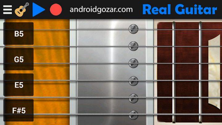 Real Guitar FULL 5.3 دانلود نرم افزار شبیه سازی گیتار واقعی در اندروید