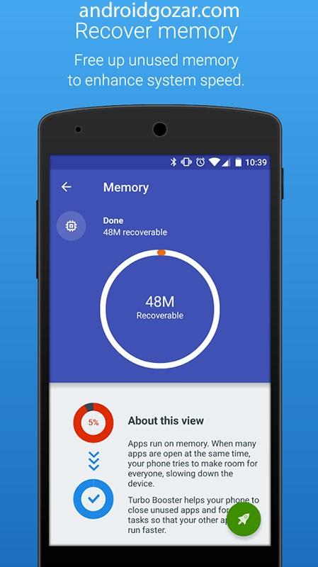 Turbo Booster PRO 3.4.5 افزایش سرعت موبایل و تبلت اندروید