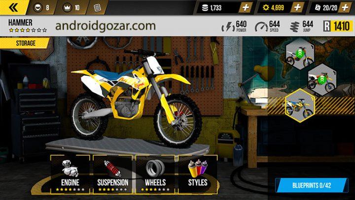 Dirt Xtreme 1.4.1 دانلود بازی موتور سواری کراس اندروید