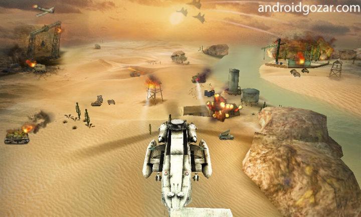 دانلود Gunship Strike 3D 1.1.0 – بازی جنگ هلیکوپترها اندروید + مود
