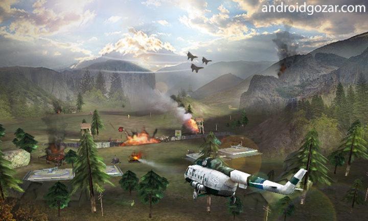 Gunship Strike 3D 1.0.9 دانلود بازی جنگ هلیکوپترها اندروید + مود