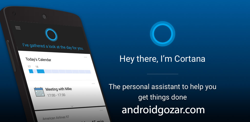Microsoft Cortana 2.9.10.2026 دانلود دستیار شخصی کورتانا اندروید