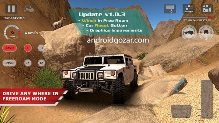 دانلود OffRoad Drive Desert 1.0.9 – بازی رانندگی بیابانی آفرود اندروید + مود