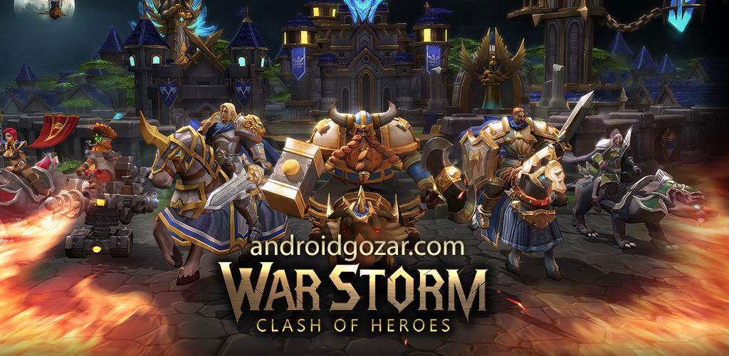 War Storm: Clash of Heroes 1.2.7 دانلود بازی طوفان جنگ اندروید