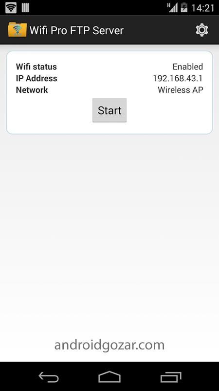 WiFi Pro FTP Server 1.8.1 سرور اف تی پی وای فای اندروید