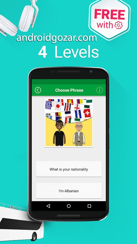 Learn American English Phrasebook – 5000 Phrases Premium 1.6.3 یادگیری عبارات انگلیسی آمریکایی در اندروید