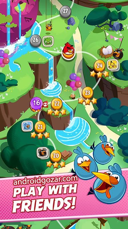 Angry Birds Blast 1.7.8 دانلود بازی انفجار پرندگان خشمگین اندروید + مود