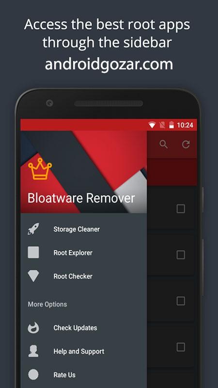 Bloatware Remover 1.3.0.0 حذف برنامه های غیر قابل حذف اندروید