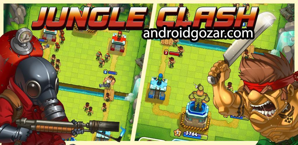 دانلود Jungle Clash 1.0.19 بازی استراتژی نبرد جنگل اندروید