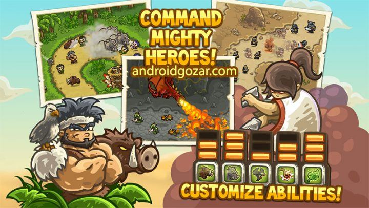 دانلود Kingdom Rush Frontiers 4.2.25 بازی دفاع برج اعتیاد آور اندروید + مود