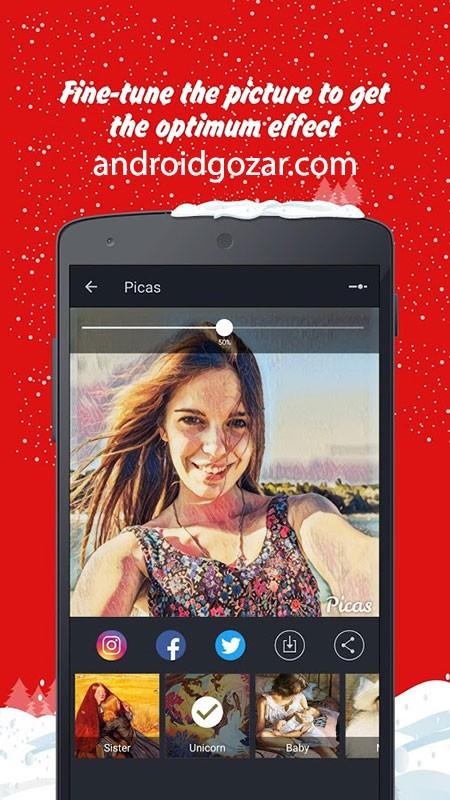 Picas Pro VIP 2.0.3 دانلود نرم افزار ویرایش و هنری کردن عکس اندروید