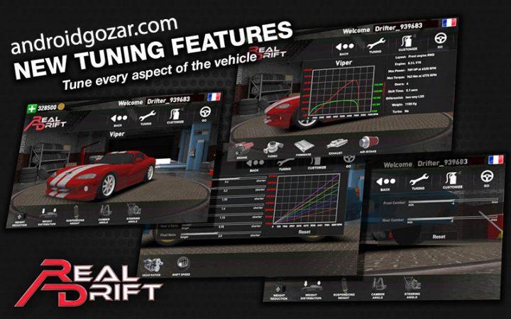 Real Drift Car Racing 4.9 دانلود بازی مسابقه ماشین دریفت اندروید + مود + دیتا