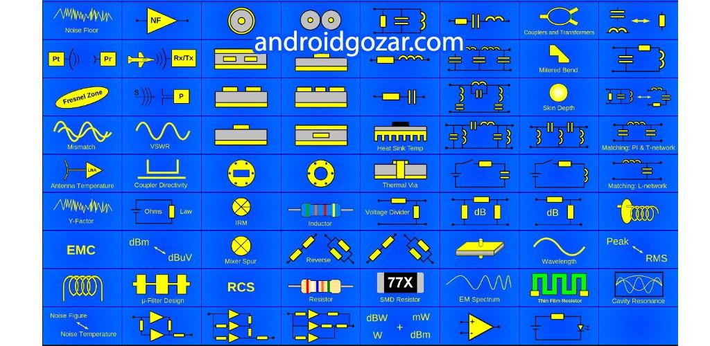 RF & Microwave Toolbox Pro 3.89 دانلود جعبه ابزار الکترونیکی فرکانس بالا اندروید