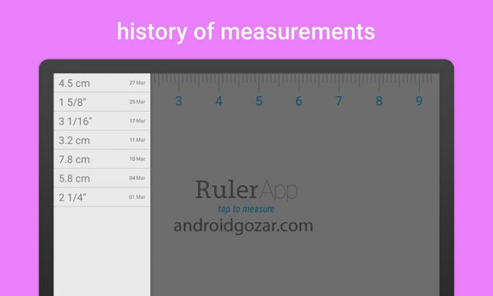 Ruler App Full 2.1.4 دانلود نرم افزار خط کش برای اندروید