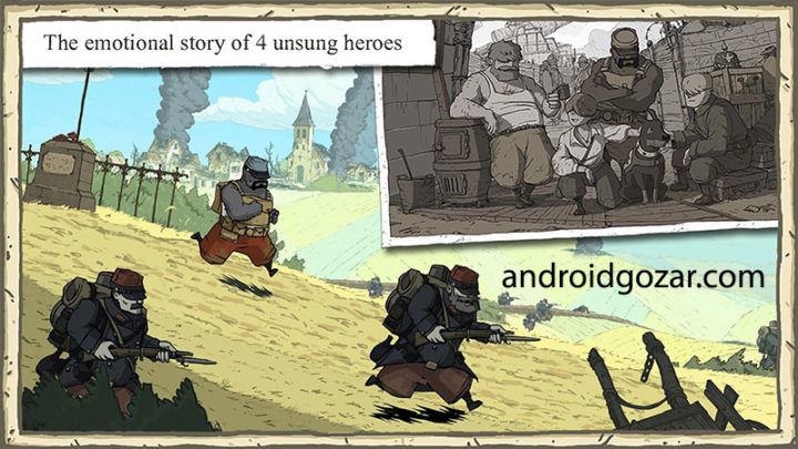 Valiant Hearts : The Great War 1.0.4 دانلود بازی شجاع دلان اندروید + دیتا