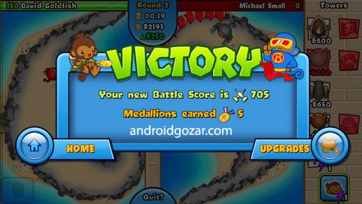 دانلود Bloons TD Battles 6.5.2 – بازی میمون ها علیه بادکنک ها اندروید + مود