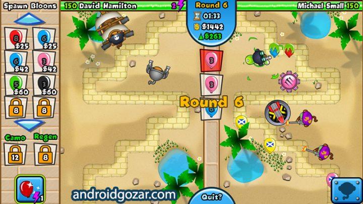 دانلود Bloons TD Battles 6.6.0 بازی میمون ها علیه بادکنک ها اندروید + مود