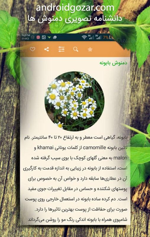 Damnoosh 3.9 دانلود نرم افزار دمنوش های گیاهی اندروید