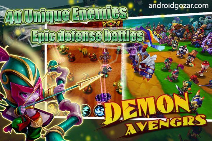 Demon Avengers TD 1.0 دانلود بازی انتقام جویان شیطانی اندروید + مود