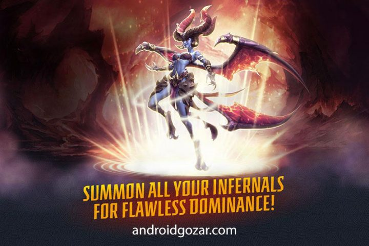 Infernals – Heroes of Hell 1.0.1 دانلود بازی دوزخیان: قهرمانان جهنم اندروید + مود