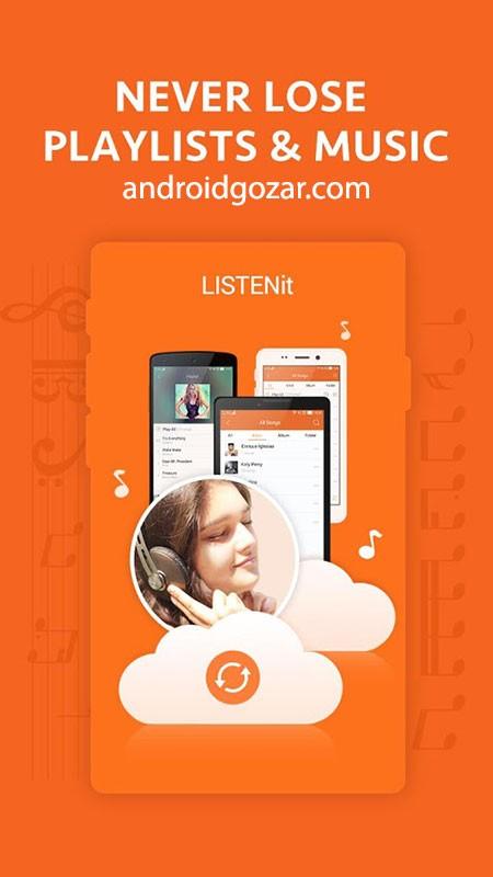 دانلود Music Player – just LISTENit 1.6.98 موزیک پلیر عالی اندروید