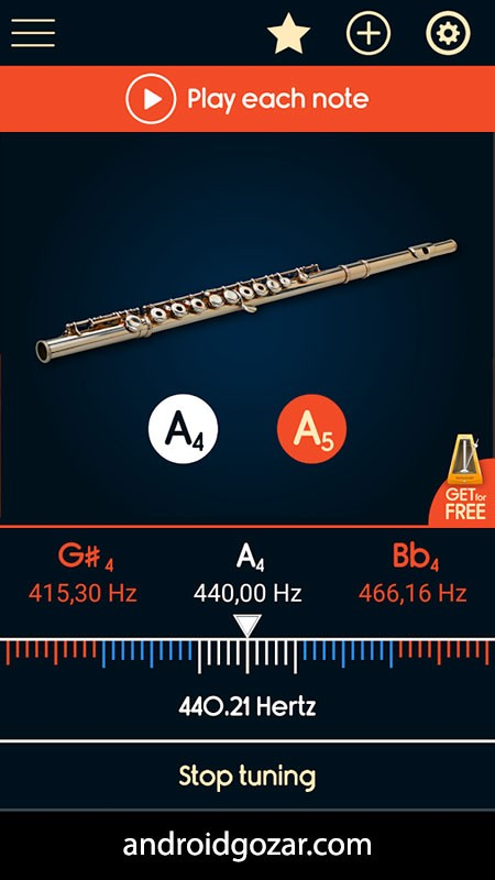 Master Flute Tuner 3.6 دانلود نرم افزار کوک کردن فلوت با اندروید