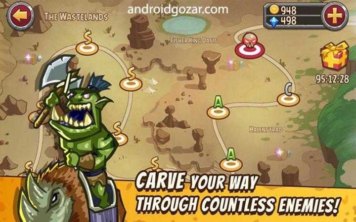 Pocket Heroes 2.0.5 دانلود بازی استراتژی قهرمانان جیبی اندروید + مود