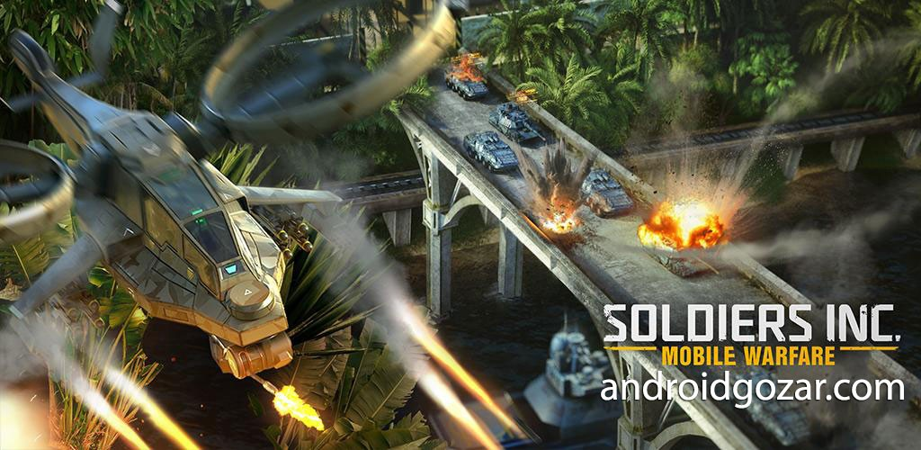 دانلود Soldiers Inc: Mobile Warfare 1.25.3 بازی جنگ سربازان اندروید