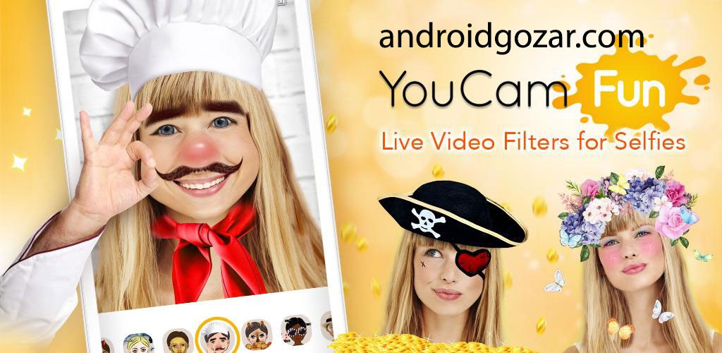 YouCam Fun Live Selfie Filters 1.10.1 فیلتر و افکت زنده سلفی اندروید