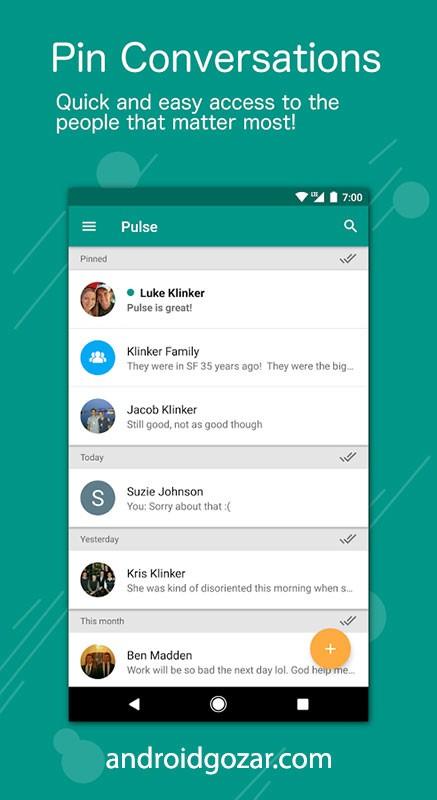 Pulse SMS (Phone/Tablet/Web) Pro 5.0.0.2683 – پیام رسان حرفه ای اندروید