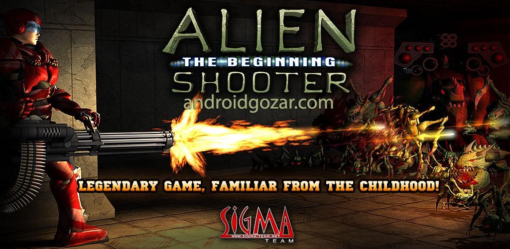 Alien Shooter 1.1.6 دانلود بازی اکشن تیرانداز بیگانه اندروید + مود