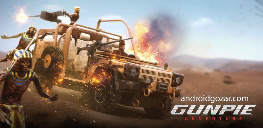 Gunpie Adventure 1.1.22 دانلود بازی اکشن ماجراجویی دایره تفنگ اندروید