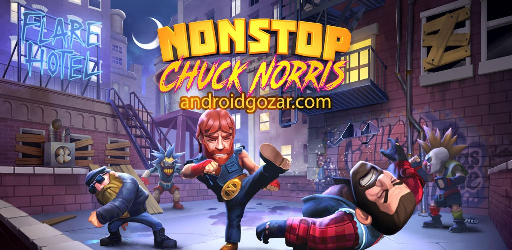 Nonstop Chuck Norris 1.5.2 دانلود بازی چاک نوریس بی وقفه اندروید + مود