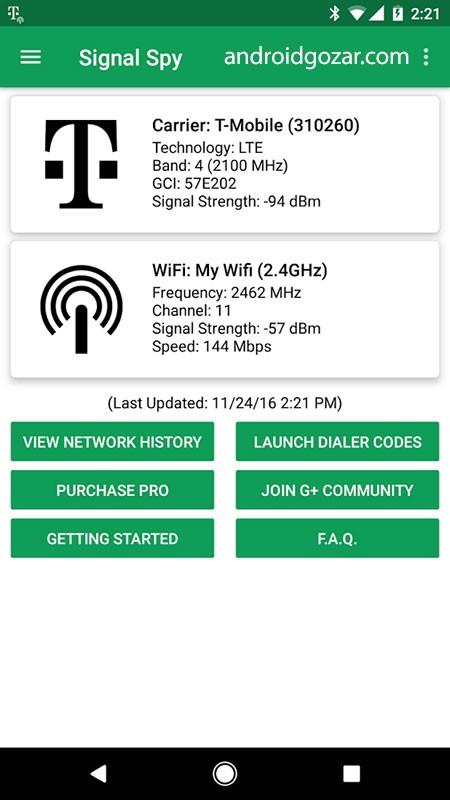 Signal Spy Pro 1.9.9.7 نمایش اطلاعات و محدود کردن مصرف اینترنت اندروید