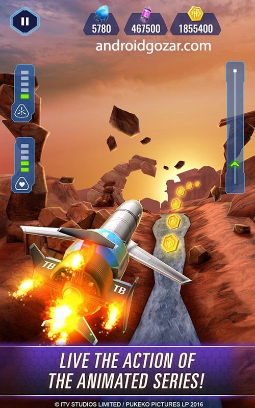 Thunderbirds Are Go: Team Rush 1.2.0 دانلود بازی اکشن تاندربردز اندروید + مود