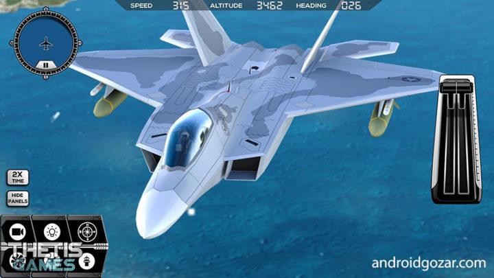 Flight Simulator FlyWings 2017 3.5.5 دانلود بازی شبیه ساز پرواز اندروید + مود + دیتا