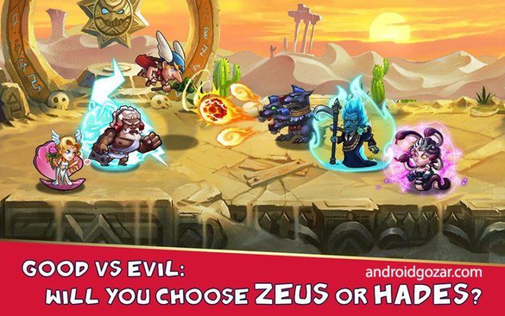 دانلود Gods Rush 1.1.46 بازی استراتژی هجوم خدایان اندروید + مود