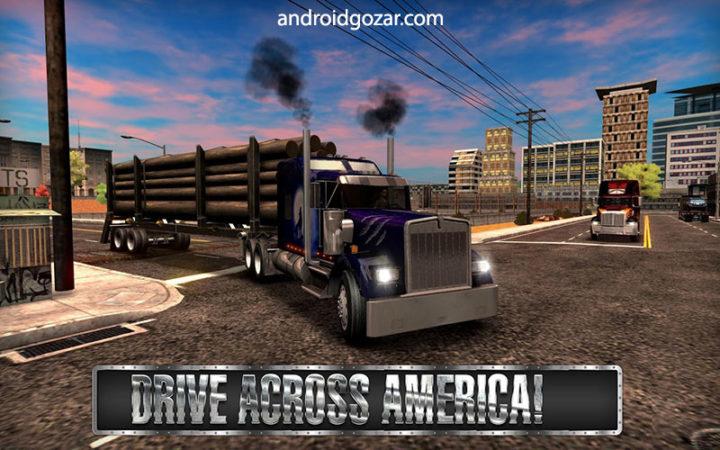 دانلود Truck Simulator USA 4.0.8 – بازی شبیه سازی کامیون اندروید + مود