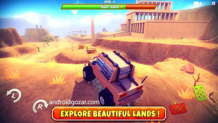 Zombie Offroad Safari 1.2.1 دانلود بازی ماشین سواری زامبی سافاری اندروید + مود + دیتا