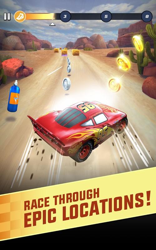 Cars: Lightning League 1.6 دانلود بازی ماشین سواری دیزنی پیکسار اندروید + مود