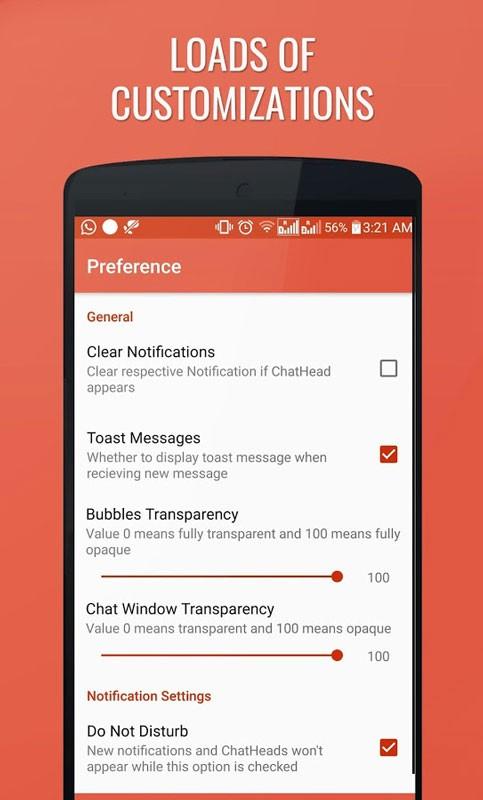 DirectChat Pro (ChatHeads) 1.7.5 پاسخ سریع در پیام رسان ها اندروید