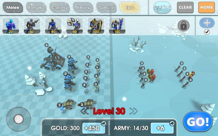 Epic Battle Simulator 2 1.3.10 دانلود بازی شبیه سازی جنگ 2 اندروید + مود