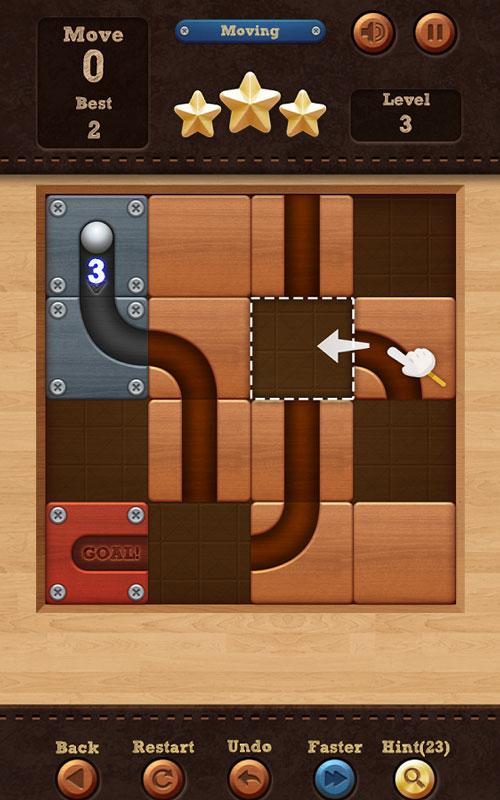 Roll the Ball – slide puzzle 1.7.55 دانلود بازی فکری اعتیادآور چرخش توپ + مود