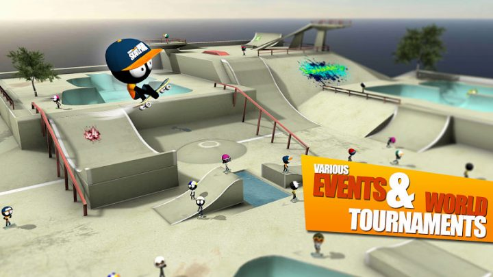 Stickman Skate Battle 2.3.2 دانلود بازی نبرد اسکیت استیکمن اندروید