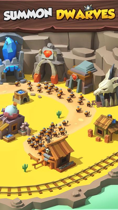 Tiny Miners – Idle Clicker 3.4.5 دانلود بازی معدنچیان کوچک اندروید + مود