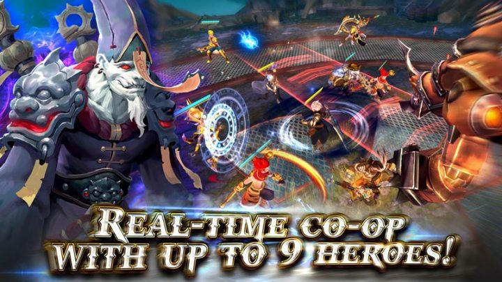 Heroes of Skyrealm 1.6.5 دانلود بازی قهرمانان قلمرو آسمان اندروید + مود