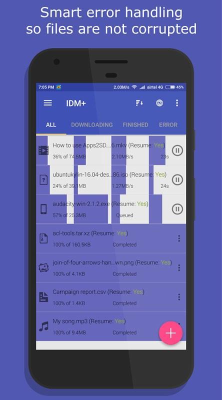 دانلود IDM+: Fastest download manager 12.3 دانلود منیجر قوی اندروید